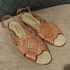 Softspots Leather Comfort Sandals 9